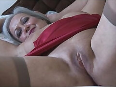 bed-granny-stockings-striptease