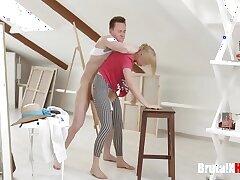 bdsm-blonde-blowjob-bondage